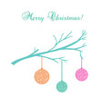 vintage christmas card with snowflakes vector image