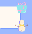 winter season post template for social media feed vector image