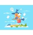 Postal fairy on a broom vector image