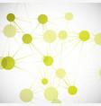 network connect or molecule set vector image