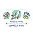 aerospace industry concept icon cosmos