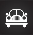 automobile icon on black background for graphic vector image vector image