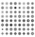 big set of snowflakes vector image vector image