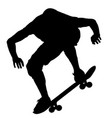 black silhouette of an athlete skateboarder in a vector image