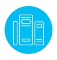 Books line icon vector image vector image