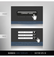 Business card website buttons style vector image