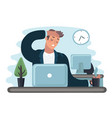 businessman in stress vector image vector image