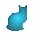 cat icon paper origamy style vector image