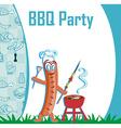 cheerful sausage - funny invitation vector image vector image