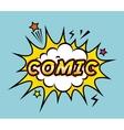 comic pop art style vector image vector image