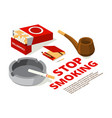 concept of stop smoking theme vector image vector image