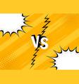 concept vs versus fight vector image vector image