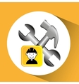 construction worker wrench hammer graphic vector image vector image