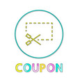 coupon icon with scissors vector image