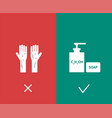 covid19-19 prevention advice wash your hand vector image