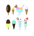 cute ice cream vector image
