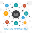 digital marketing trendy web concept with icons vector image vector image