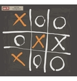 drawing of tic tac toe on a dark background vector image