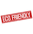 eco friendly square grunge stamp vector image vector image