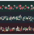 Endless pattern brushes with Christmas decorations vector image vector image