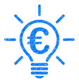 euro idea bulb icon grunge watermark vector image vector image
