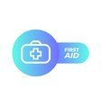 first aid icon in trendy flat style isolated on vector image