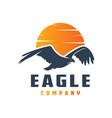 flying eagle logo design vector image vector image