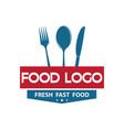 food logo text logo design vector image vector image