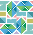 geometric pattern in modern stylish texture vector image