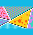 geometric pop art background vector image vector image