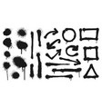 graffiti spray lines grunge dots arrows and vector image