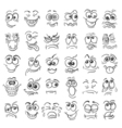Hand drawn doodle cartoon faces emotion set vector image