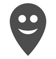 happy map marker flat icon vector image