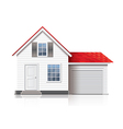 house isolated vector image vector image