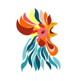 Isolated rooster head decorative Logo vector image vector image