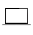 Laptop isolated on white background vector image