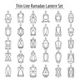 line islamic lanterns vector image