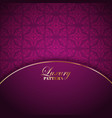 luxurious pattern background vector image vector image
