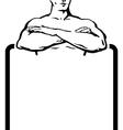 man banner vector image