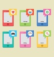 Mobile Style Icons vector image vector image