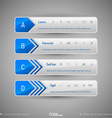 Modern tabs as design elements Business symbols vector image