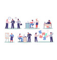 office workers in different situations vector image vector image