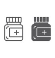 ointment line and glyph icon care and medicine vector image vector image