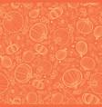 orange pumpkins texture seamless repeat vector image vector image