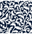 Ornamental white floral seamless pattern vector image vector image