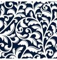 Ornamental white floral seamless pattern