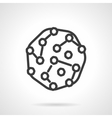 Pathogens black line design icon vector image vector image