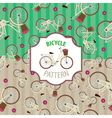 Pattern bicycle set number 4 vector image vector image