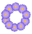 purple aster daisy flower wreath vector image vector image