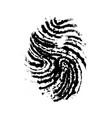 realistic imprint human thumb simple black vector image vector image